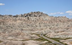 Driving the Badlands Royalty Free Stock Image