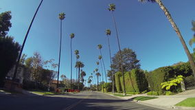 Driving through Beverly Drive in Beverly Hills
