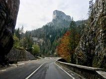 Driving through Bicaz Gorges Cheile Bicazului Stock Image
