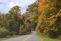 Driving the Blue Ridge Parkway North Carolina Autumn Stock Image