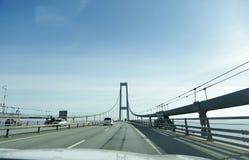 Driving through the bridge Royalty Free Stock Photos
