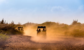 Driving buggies off road. As a recreational activity Stock Image
