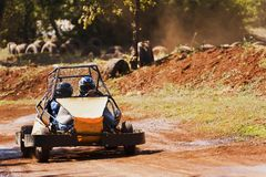Driving a buggy Stock Photography