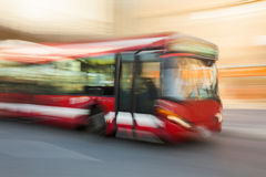 Driving bus Royalty Free Stock Photo