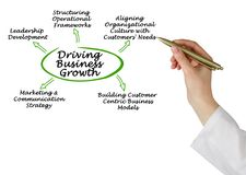 Driving Business Growth. Presenting Diagram of Driving Business Growth Royalty Free Stock Photography