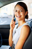 Driving businesswoman stock photography