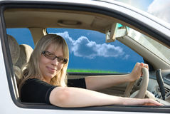 Driving car Stock Images