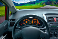 Driving a car Stock Photography