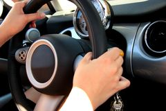 Driving a car Royalty Free Stock Photos