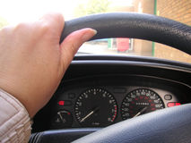 Driving a car Royalty Free Stock Photo