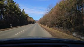 Driving a car. Driving on a country road stock video