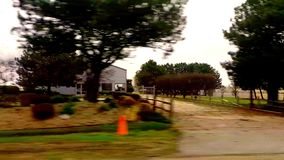 Driving car on country road stock video footage