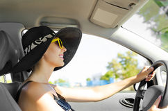 Driving a car Royalty Free Stock Images