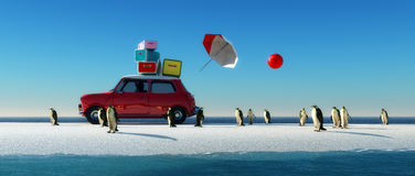 driving car and iceberg Stock Images