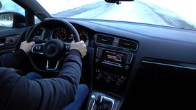 Driving - Car interior stock video footage