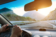 Driving car Royalty Free Stock Photography