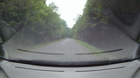 Driving a Car on a Mountain Road stock video footage