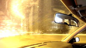 Driving a car at night in the city. Time lapse.  stock video footage