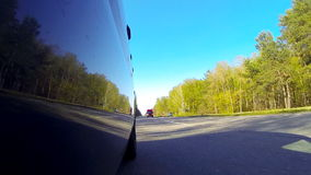 Driving a car POV. Left side reference. stock video