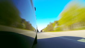 Driving a car POV. Left side reference. Timelapse. HD1080p. stock footage