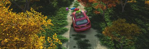 driving car and road royalty free illustration
