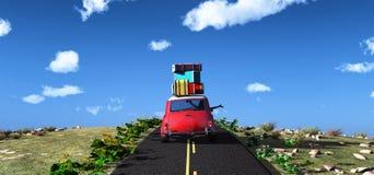 Driving car and road Royalty Free Stock Photos