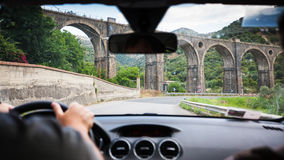 Driving a car in Sicily Royalty Free Stock Photos