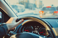 Driving car Royalty Free Stock Image