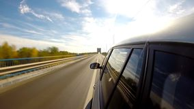Driving a car. Time Lapse. stock video footage