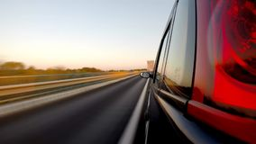 Driving a car. Time Lapse. stock footage