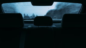 Driving a car in the view the rear window timelapse video stock footage
