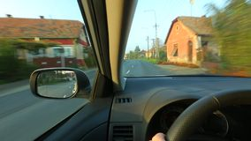 Driving a car stock footage