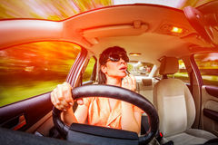 Driving a car Royalty Free Stock Image