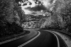 Driving the Cherohala Skyway Royalty Free Stock Images