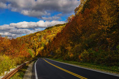 Driving the Cherohala Skyway Royalty Free Stock Photography