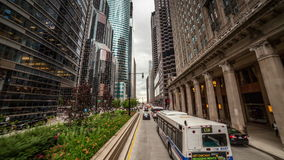 Driving through Chicago, IL Royalty Free Stock Images