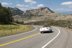Driving the Chief Joseph. Driving along the Chief Joseph Scenic Byway in Wyoming Royalty Free Stock Image