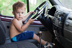 Driving child Royalty Free Stock Image