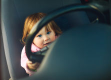 Driving child Stock Image