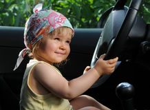 Driving child Stock Photography