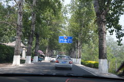 Driving through China Stock Photography