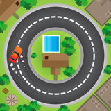 Driving in Circles royalty free stock image