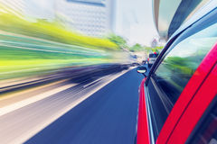 Driving through the city by taxi Royalty Free Stock Photos
