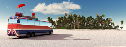 Driving coach and travel Stock Photos