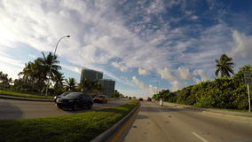Driving on Collins Avenue 4k video stock video