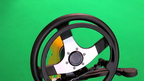 Driving Controls For Disabled isolated on green Royalty Free Stock Photography