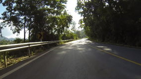 Driving through the country road. stock video