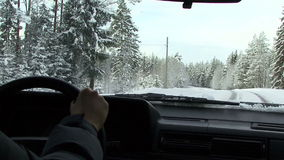 Driving on country stock footage