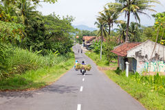 Driving in the countryside from East java in Indonesia Royalty Free Stock Photography