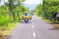 Driving in the countryside from Java Indonesia Royalty Free Stock Image